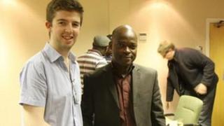 Paul Gallen and Olawale Fashina