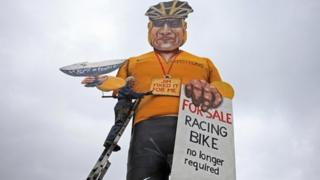 Lance Armstrong effigy