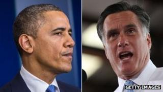 Obama and Romney composite