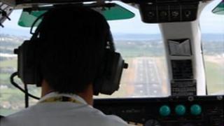 Pilot approaching Guernsey Airport