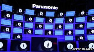 Panasonic TVs on display