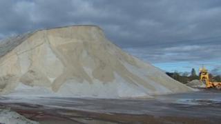 Salt mountain at Southampton Docks