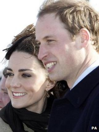 The Duke and Duchess of Cambridge on Anglesey last year
