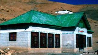 Hikkim polling station in India's Himachal Pradesh