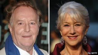 Robert Hardy and Helen Mirren