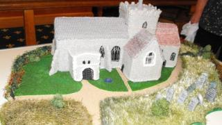 Knitted St Mary's Church, Pirton
