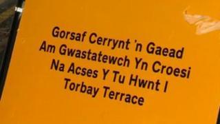 Welsh language sign