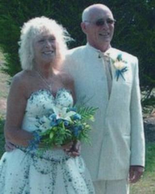 Carol Cooper at her wedding