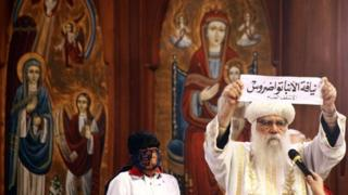 Bishop Tawadros' name is held up - 4/11/12