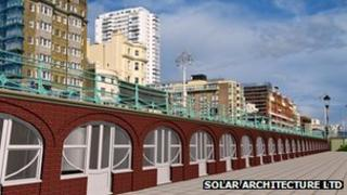 Impression of how the arches will look