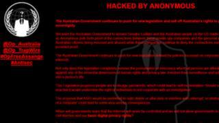 Anonymous website hack