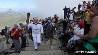 Sir Chris Bonington on Snowdon