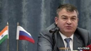 File image of former Russian Defence Minister Anatoly Serdyukov