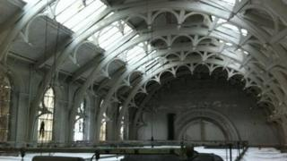 Roof space at York Art Gallery