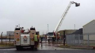 Fire crews at the scene in Hartlepool