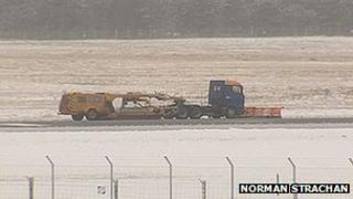 Runway clearing at Inverness