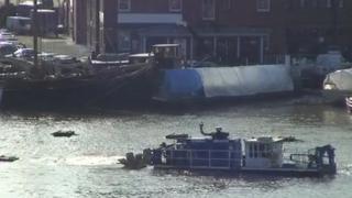 Dredger at Gloucester Docks