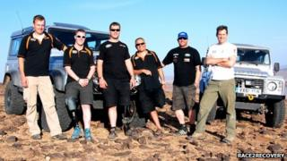 Members of the Race2Recovery team