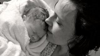 Kate Stanton-Davies photographed with her mother, Rhiannon
