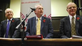(From left to right) Fraser Pithie, James Plaskitt and Ron Ball