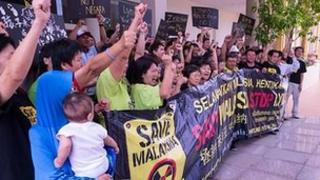 Malaysians protested against the Lynas rare earths facility