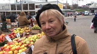 Daina in Riga's Central market