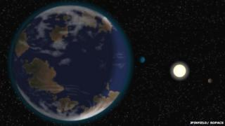 Artist's impression of what new 'super-earth' might look like