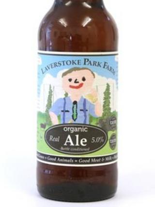 Laverstoke Park Farm organic ale bottle