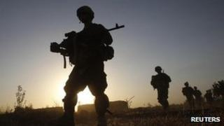 Silhouettes of US soldiers (file picture)