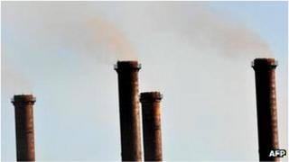 File photo of smoke in the Latrobe Valley, Australia, August 2009