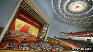 China's leaders gather during the opening session of the 18th Communist Party Congress held at the Great Hall of the People in Beijing, 08 Nov 2012