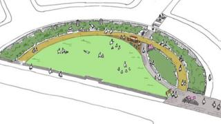 An artist's impression of how Boscombe Crescent will look