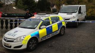 Police at scene of man's death