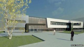 Artist's interpretation of a new college block at the College of West Anglia's King's Lynn campus (Pick Everard)