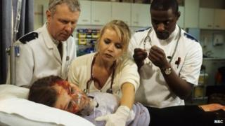 A scene from Casualty