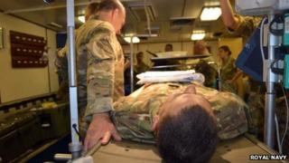 HMS Montrose hospital ship trial, November 2012