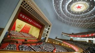 Delegates at the opening session of the 18th Communist Party Congress held at the Great Hall of the People on November 8 in Beijing