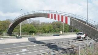 Footbridge over the M5