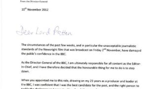 Extract from George Entwistle's resignation letter