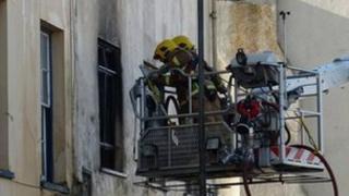 Firemen at Simon Place