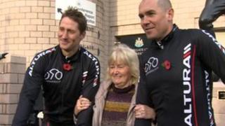 Lady Elsie Robson, Robbie Elliott and Phil Gray