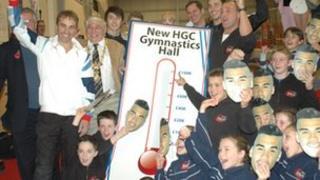Gymnasts at Huntingdon Gymnastics Club