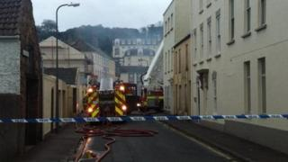 Fire in Simon Place on Monday