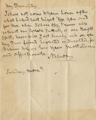 Nelson's letter