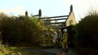 Scene of the fire in Blackburn