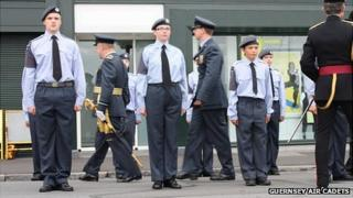 Guernsey Air Cadets on parade