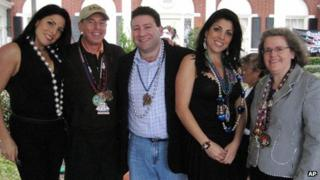 From left, Natalie Khawam, sister of Jill Kelley; Gen Petraeus; Scott Kelley; Jill Kelley; Holly Petraeus