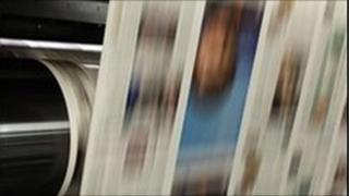 Newspaper printing press