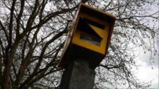 Speed camera on Hotwells Road in Bristol