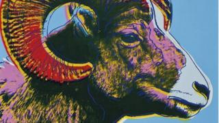 Endangered Species: Bighorn Ram by Warhol